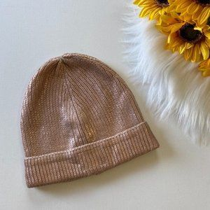 Free w/ purchase of $25 Hollister Rose Gold Beanie